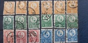 Hungary 1871 stamped collection.