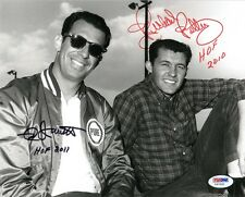 NED JARRETT & RICHARD PETTY DUAL SIGNED AUTOGRAPHED 8x10 PHOTO + HOF PSA/DNA