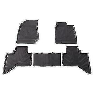 GENUINE ISUZU D-MAX FRONT & REAR RUBBER MAT TRAYS DOUBLE CAB 5867605362