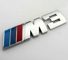 Auto Car M Power M3 Chrom Metall Emblem Aufkleber Schriftzug Plakette für Neu
