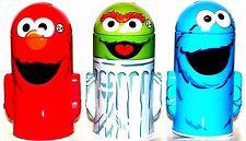 Sesame Street Metal Coin Bank 3 pc Set-Elmo,Cookie Monster, & Oscar Piggy Banks