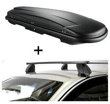 Dachbox VDPJUXT400L+Dachträger K1M für Fiat 500 X 5Türer ab 15