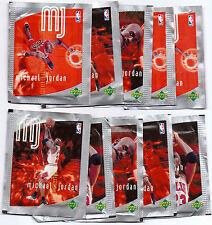 1997/98 Upper Deck Michael Jordan NBA Basketball 10 x Sticker Pack Lot Unopened