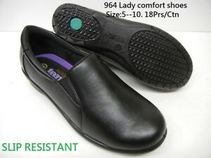 Women Soft Comfy Walking Work Shoes Non Slip Slip Resistant PU Leather Loafer964