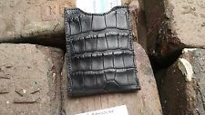 American Alligator Card Case Holder Sport Money  croc gator A Black