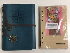 Maleden Classic Spiral Bound Notebook Leather Writing Journal Notebook Amp Refill