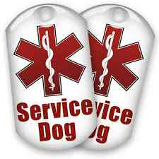 2 Epoxy Service Dog ID Tags with Split Rings - USA SHIPPED!