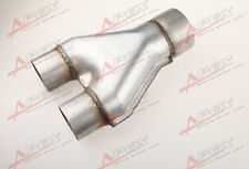 "Universal Custom Exhaust Y-Pipe 2"" Dual 2.5"" Single Aluminized Steel"