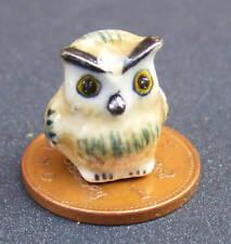 1:12 Scale Ceramic Brown Owl Tumdee Dolls House Miniature Garden Bird H
