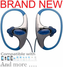 Aiwa Sport Exercise Workout Headphones for  iPod iPhone iPhone 4 CD MP3 Blue
