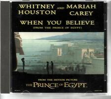 WHITNEY HOUSTON & MARIAH CAREY When you Believe INSTRUMENTAL USA 2TRX CD single