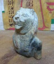 Rare Sekhmet Egyptian Antique Stone Ancient Civilization Bust Lion sculpture