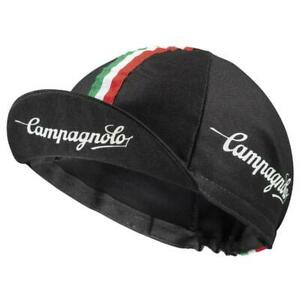 Campagnolo Sportswear Cycling Cap (one size) Made in Italy - Bike Hat, Black