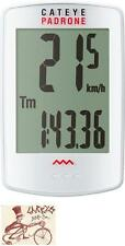 CATEYE PADRONE WIRELESS WHITE BICYCLE SPEEDOMETER COMPUTER