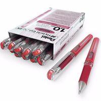 Pentel Metallic Gel Pen – Gel Grip 1.0mm Rollerball – Metallic Red – Box of 12