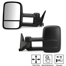 Pair Manual Tow Mirrors Glass Trailer for Chevy GMC C/K 1500 2500 3500 1988-1998