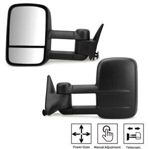 Pair Tow Mirrors Fit for Chevy Silverado GMC Sierra 1500 2500 3500 88-98 Manual
