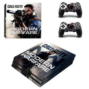 PS4 Pro Playstation 4 Console Skin Decal Sticker COD Modern Warfare Design Set