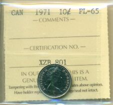 1971 Canada 10 Cent ICCS PL-65, Very Affordable for New Hobbyist