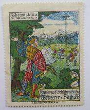 Poster Stamp Thomasbrau Munchen Armbrust Schutzen Gilde 1912 Germany Oktoberfest