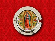 OUR LADY OF GUADALUPE VIRGIN MARY 3 HOLDER HANDBAG POCKETBOOK HANGER PURSE HOOK