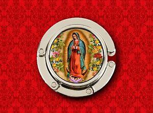 OUR LADY OF GUADALUPE VIRGIN MARY 3 HOLDER HANDBAG POCKETBOOK HANGER PURSE HOOK