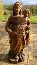Vierge à l'enfant en bois 17ème