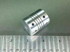 "6.35 X 16MM Rare Large Flexible Motor Shaft Clamp Coupler Coupling Nema 23 1/4"""