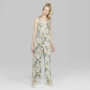 Wild Fable Women's Floral Print Strappy Jumpsuit - Multi - Size Large