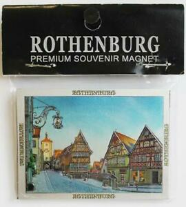 Rothenburg O.D.Tauber Premium Souvenir Magnet Germany Laser Optics