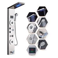 ELLO&ALLO Shower Panel Tower LED Rainfall Waterfall Massage Body System Jet