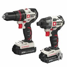 Porter-Cable 20V MAX Li-Ion Brushless Drill & Impact Driver Kit PCCK618L2 new