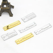 Personalized Engraved Acrylic Mirror Tags Clothing Tags Sew On Acrylic Labels