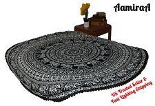 AamiraA Hippie Black Round Mandala Tapestry Bohemian Wall Hanging Dorm Decor