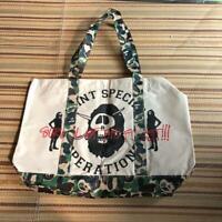 A BATHING APE BAPE × STUSSY Collaboration Tote Bag Camo Japan Limited Very Rare