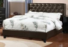 Bedroom Furniture Silver Tufted Queen Size Bed Tufted Comfort Bedframe Plywood