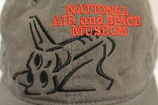 Smithsonian National Air and Space Museum Adjustable OSFA Gray Cotton Hat Cap