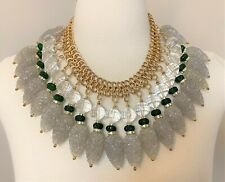 Gorgeous Vintage Egyptian Revival Lucite & Rhinestones Necklace