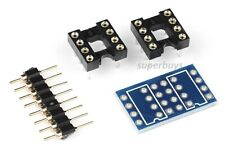 Dual DIP8 to DIP8 Mono Opamp Adapter Integrated Circuit IC PCB Panel OPA2132