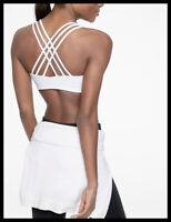 Athleta NWT Women's Hyper Focused Bra Size Small Color White