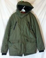 Boys John Rocha Dark Khaki Green Warm Winter Hooded Parka Coat Age 11-12 Years