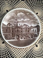 Sepia Tone Wedgwood Plate-Views Of London Series-Horse Guards Whitehall