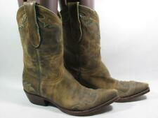 Old Gringo Inlay Western Cowboy Boot Women size 8 Brown Leather