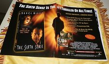 "2000 Video Promo Poster and Ad Page ""The Sixth Sense""-Bruce Willis"