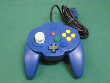 Nintendo 64 N64 -HORI PAD MINI BLUE Controller- JAPAN Clean & Work fully 28080