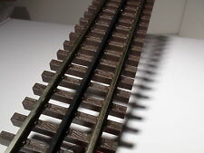 "O-SCALE ATLAS #6050 10"" STRAIGHT TRACK WITH SIMULATED WOOD TIES 3 RAIL 1 PIECES"