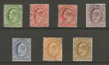 FALKLAND IS SG43-50  1904-12 EVII SET TO 1/- INC 1d WAT SIDEWAYS FINE USED C£116