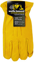 Wells Lamont Premium Cowhide Leather Work Gloves M L XL, 1, 2, 3 or 6 Count