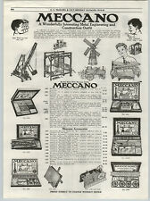 1919 PAPER AD Meccano Contruction Toy Set Tinkertoy Tinkers Flying Jumpy Pins ++