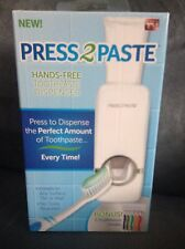 As Seen On Tv Press 2 Paste Hands-Free Toothpaste Dispenser - New In Box